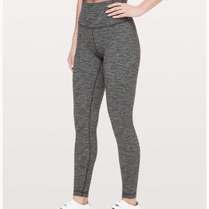 Lululemon Gray striped leggings